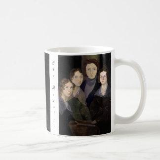 Das Brontës ~ wieder hergestellte Säulen-Porträt Kaffeetasse