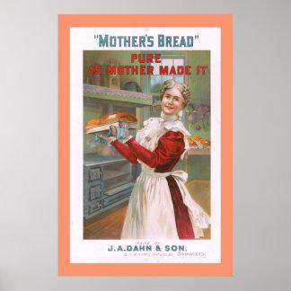 Das Brot-Vintage Werbung der Mutter Poster