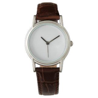 Das Brown-Lederband-Uhr der Frauen klassische Armbanduhr