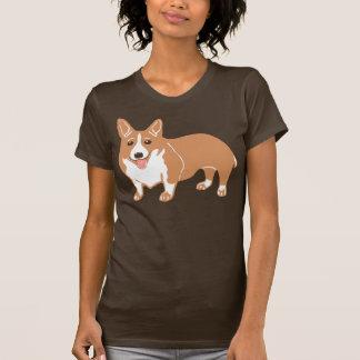 Das Brown-T - Shirt der Walisercorgi-Frauen
