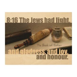 Das Buch der Esther-8:16 Holz-Leinwand Holzleinwand