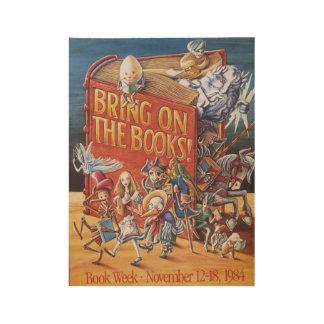 Das Buch-Wochen-Holz-Plakat 1984 Kinder Holzposter