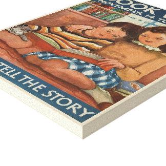 Das Buch-Wochen-Leinwand 1948 Kinder Leinwanddruck