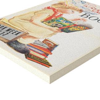 Das Buch-Wochen-Leinwand 1959 Kinder Leinwanddruck