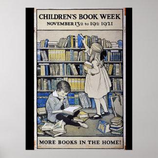 Das Buch-Wochen-Plakat 1921 Kinder Poster