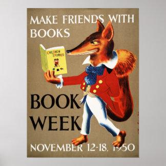 Das Buch-Wochen-Plakat 1950 Kinder Poster
