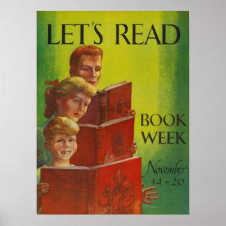 Das Buch-Wochen-Plakat 1954 Kinder Poster