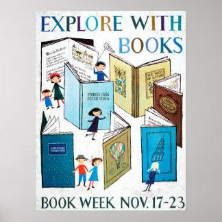 Das Buch-Wochen-Plakat 1957 Kinder Poster