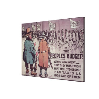 Das Budget', 1909 der Leute Leinwanddrucke