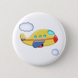 Das bunte Flugzeug des Kindes Runder Button 5,1 Cm