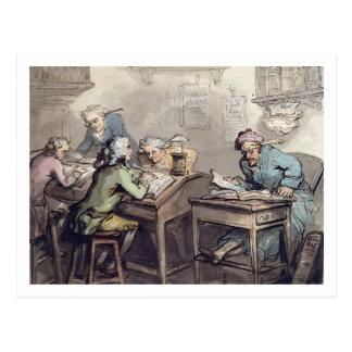 Das Büro eines Kaufmannes, 1789 (Stift u. Tinte Postkarte