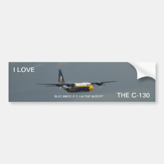 "Das C-130 ""fetter Albert"" der blauen Engel. Autoaufkleber"