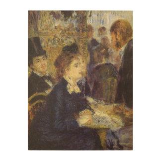 Das Café durch Pierre Renoir, Vintager Holzdruck