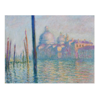 Das Canal Grande durch Monet Postkarte