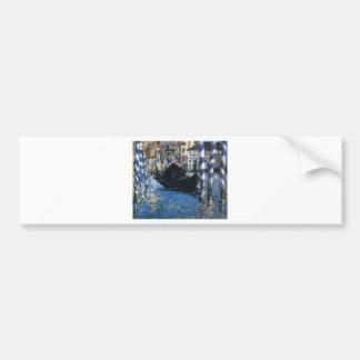 Das Canal Grande von Venedig (blaues Venedig) Autoaufkleber