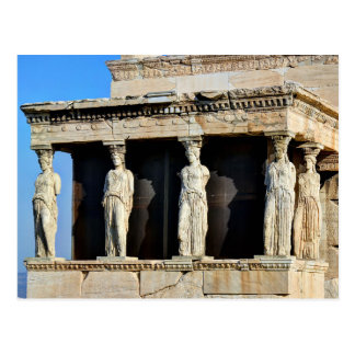 Das caryatid-Portal des Erechtheion in Athen Postkarte