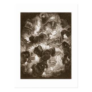 Das Chaos, graviert von Bernard Picart Postkarte