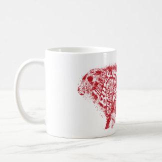 Das Chart_Grunge des Rindfleisch-Essers Art Kaffeetasse