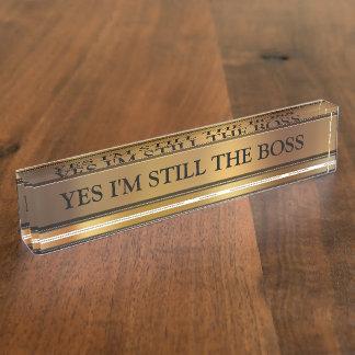 Das Chef-Führungskraft-Schreibtisch-Namensschild
