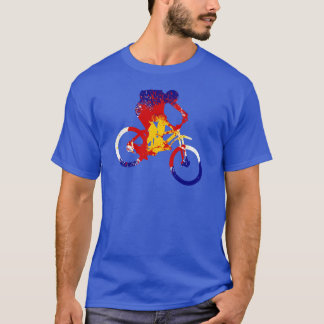 Das Colorado-Flaggen-Mountainbiker der Männer T-Shirt