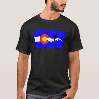 Das Colorado-Flaggenfahrrad-T - Shirt der Männer