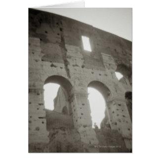 Das colosseum in Rom, Italien Karte