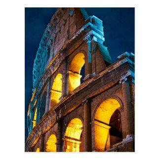 Das Colosseum in Rom, Italien, nachts Postkarte