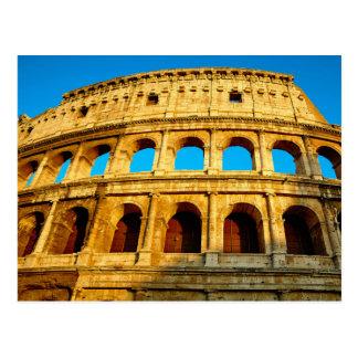 Das Colosseum in Rom, Italien Postkarte