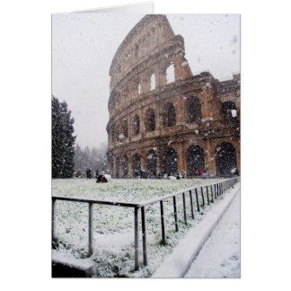 Das Colosseum unter starkem Schneefälle Karte
