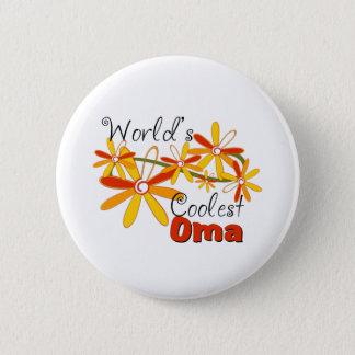 Das coolste Oma der Blumenwelt Runder Button 5,1 Cm