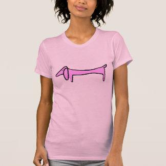 Das Dackel-Rosa T-Shirt