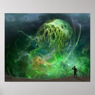 Das, das nicht beschriebener Lovecraftian Horror Poster