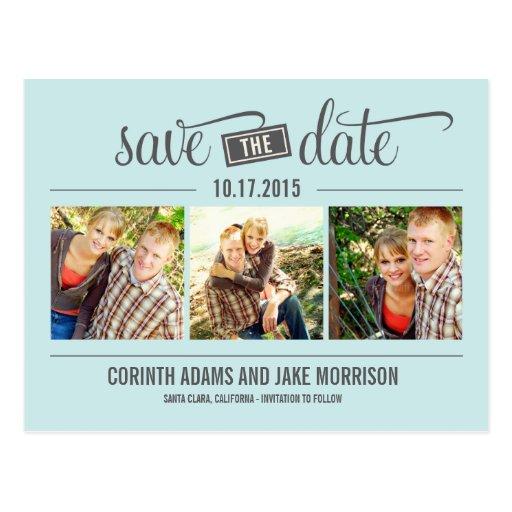 """Das"" Datum - Save the Date Karte Postkarte"