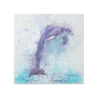 Das Delphinspringen Galerieleinwand