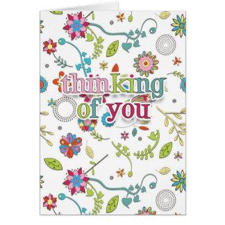Das Denken an Sie kardieren - mit Blumen - Blume Grußkarte