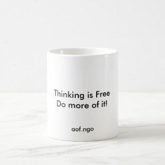 Das Denken ist frei Kaffeetasse