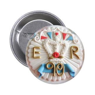 Das der Geburtstags-Feier-Abzeichen der Königin Runder Button 5,1 Cm