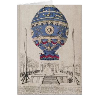Das Der Montgolfier der Ballon-Experiment Brüder Grußkarten