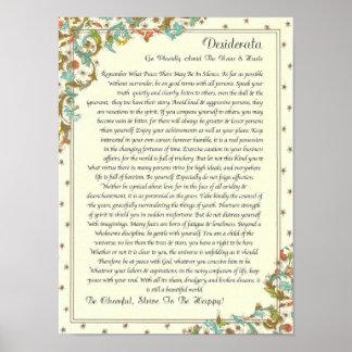 Das Desiderata-Gedicht durch maximales Ehrmann Poster
