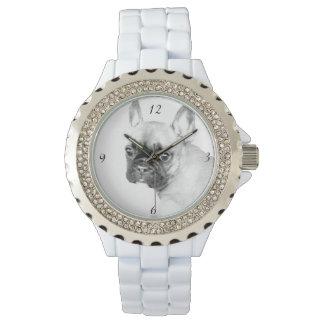 Das diamante de imitación-Email-Uhr der Uhr