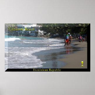 Das Dominikanische Republik Cabarete Strand-Plakat Poster