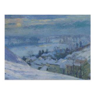 Das Dorf von Herblay unter Schnee, 1895 Postkarte