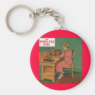 Das drahtlose Mädchen Schlüsselanhänger