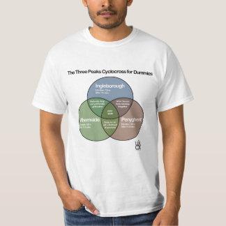 Das drei Spitzen Cyclocross venn Diagramm T-Shirt