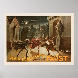 Das Duell-Vintage Plakat