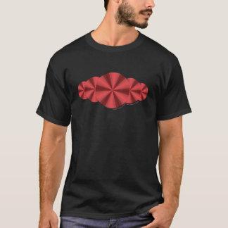 Das dunkle Shirt der optische Illusions-roten