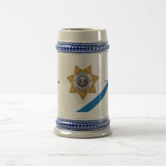 Das dünne Blue Line-Hilfssheriff-Bier Stein Bierglas