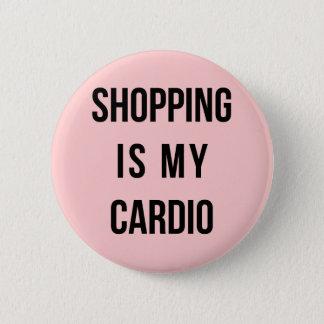 Das Einkaufen ist auf Rosa mein Herz Runder Button 5,7 Cm