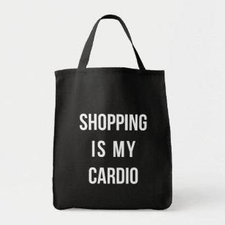 Das Einkaufen ist auf Schwarzem mein Herz Einkaufstasche