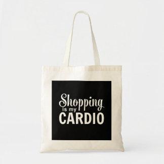 Das Einkaufen ist mein Herz Budget Stoffbeutel